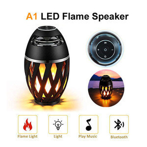 New Flame Speaker  Outdoor Portable Bluetooth speaker portable radio LED lights