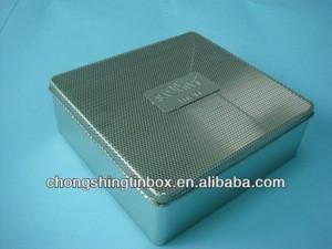 Perfume tin box with mesh tinplate