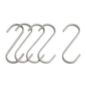 Stainless steel s-shaped silver hanger cabinet coat hat garment s display metal hook