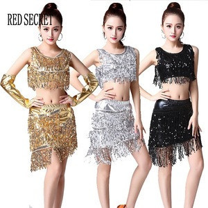 Tassel dance skirt female new sequin dance costume adult Latin dance fashion modern stage costumes