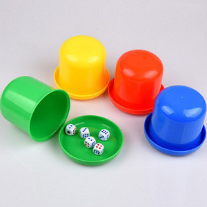 Wholesale Casino Polyhedral Drinking Board Game Gambling Dice Cup With Table Games Dice Shaker