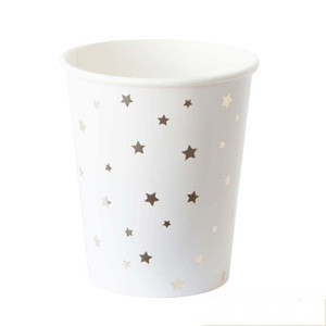 Wholesale Star Printed Disposable Tableware Sets Party Cups Plates Napkins for Wedding Decor Birthday Party Supplies