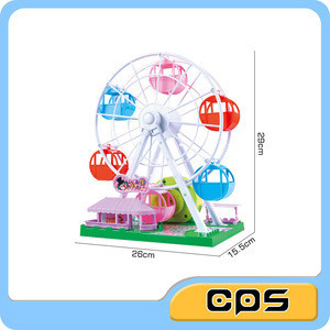 Wind up ferris wheel toy with music box