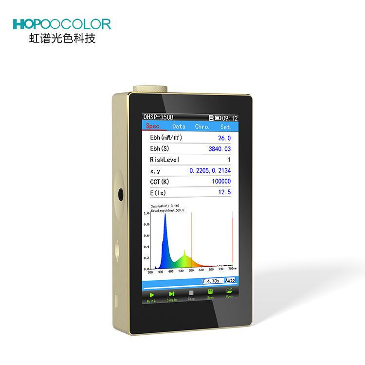 Optical spectrum analyzer OHSP350B 380-780 nm blue light blocking glasses measurement device
