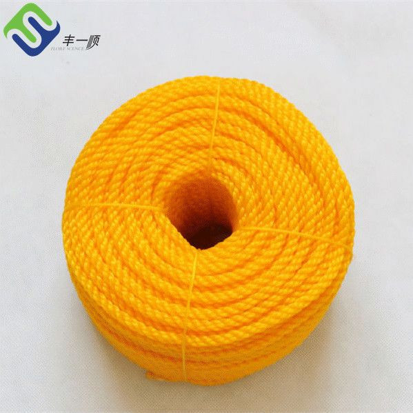 UV Resistance Multicolors 3 Strands Plastic Polypropylene PP Packaging Rope