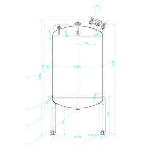 1000L Tianfu cream storage vessel shampoo and body lotion storage tank