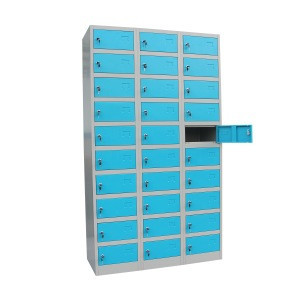 30 Door Workplace Lockers Assembling Style JF-3B10A Commercial Furniture