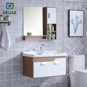 Best selling high quality modern minimalist pvc bathroom cabinet dressing table bathroom cabinet wood vertical furniture