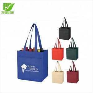Cheap Promotional Red Wine Non Woven Tote Shopping Bag