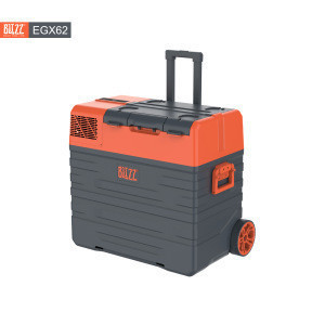 EGX62 62L mobile car freezer/fridge hot selling  compressor low noise with flexible wheels luggage style for camping outdoor