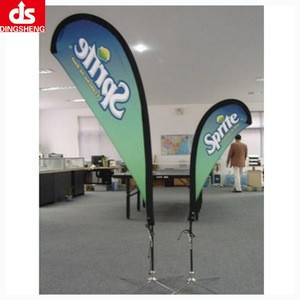 Flying style feather flag beach flag banner stand for envent