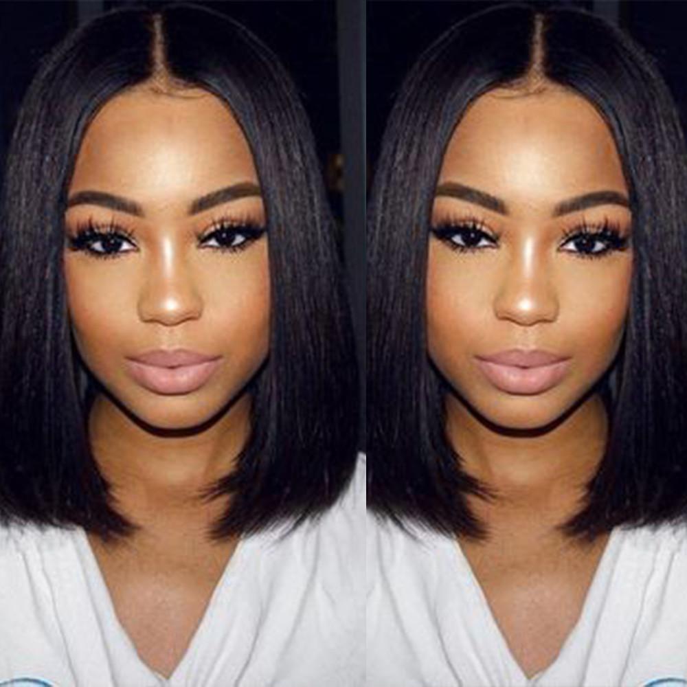 GD 100% human hair grade 10a peruvian bob wig ,  100% virgin cuticle aligned short bob wig hair , virgin remy front lace wig