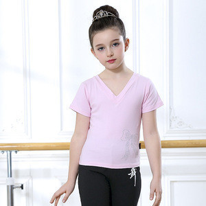 Girls dancewear shirt and pants gymnastics leotard