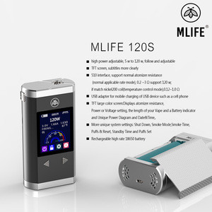 Hot Selling High Power Mlife M120S Mod Box with Dual 18650 Battery