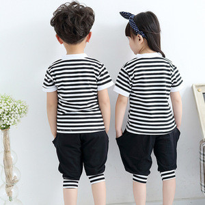 Korean style summer kindergarten sports school uniform for kids