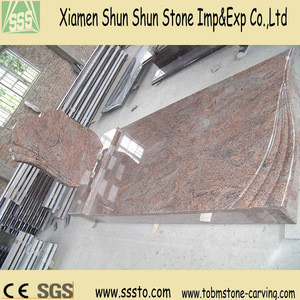 Manufacture Top Quality Red Granite Tombstone