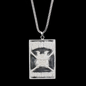 Miss Jewelry Big tag cz custom gold pendant, iced out cartoon pendants