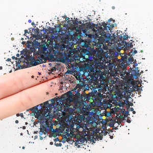 Mix glitter Christmas chunky  Holographic Cosmetic Body Glitter for Face Body Nail Decoration laser Chunky Glitter Powder