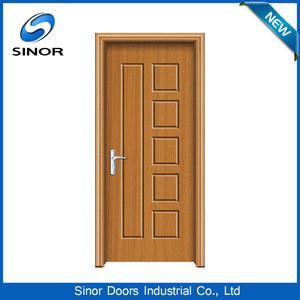 Modern solid rfl Pvc Bathroom timber wood interior flush men door