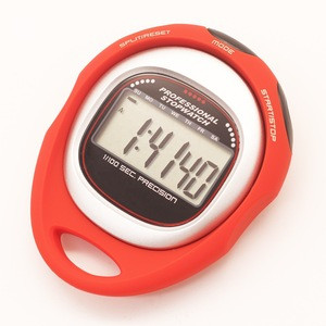 Professional Stopwatch 1/100 second precision with split memory Water Resistant Sports Timer
