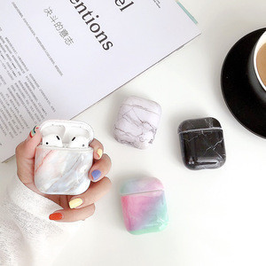 Protective Marble Case for airpod 2 Hard PC Case Earphone Cover Accessories for airpods case