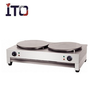 SH-CM2 Popular Dual Head Stainless Steel Commercial Electric Crepe maker for Sale ( 2 Plate/Head )