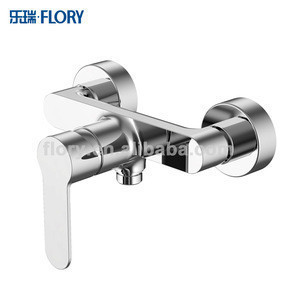 Single lever brass body chromed surface shower faucet bath tap