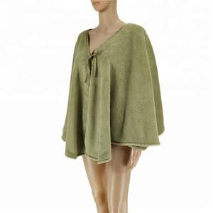Super soft womens plush micro cuddle cape satin binding cheap price sleep wear onesie pajama adult