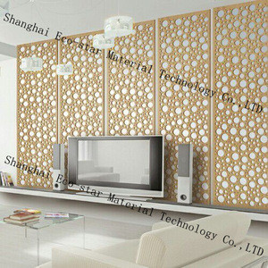 Wall decorating building material