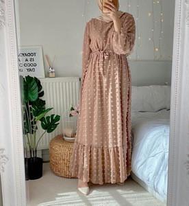 Wholesale European American Islamic clothing EID Abaya Dubai Turkey Muslim fashion new dress