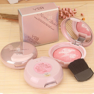 Wholesale in stock blush private label long lasting natural makeup mineral baked blush