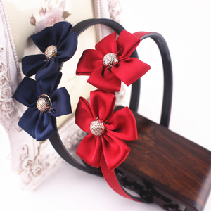Wholesale ladies hair Toothed antiskid ribbon covered plastic flower hair band