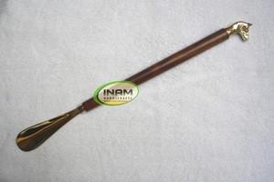 Wooden horse Handle Shoe Horn, Designer Horse Wooden and Brass Spoon Lifter / Shoe horn
