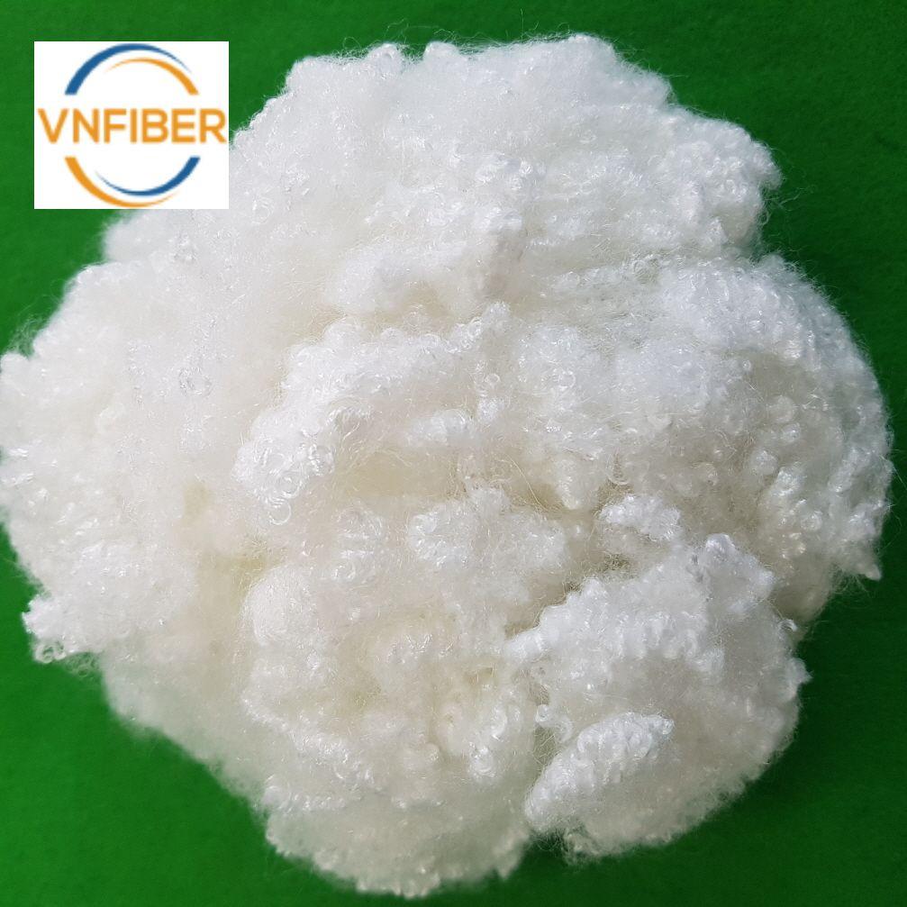 Vietnam Polyester Staple Fiber HCS 7D x 64 mm High Quality