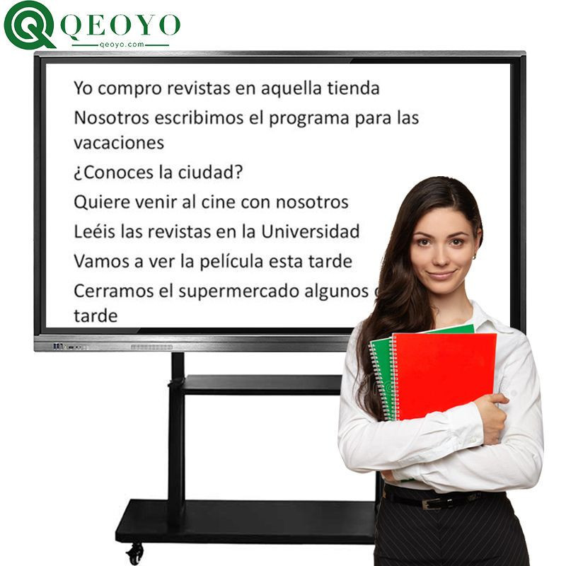 """Qeoyo 55""""65""""70""""75""""80""""82""""86""""100"""" touch screen whiteboard all in one whiteboard price for education solution"""