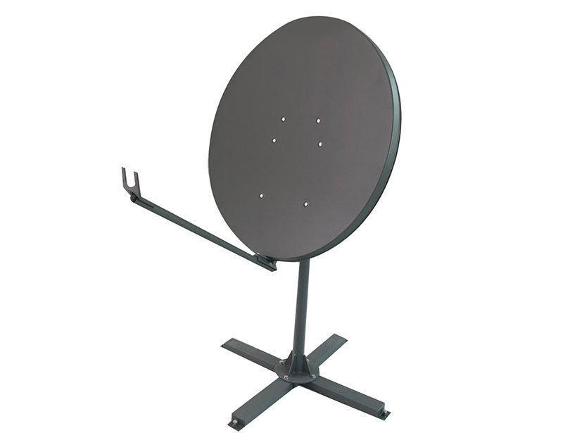 Ku-120cm steel VSAT satellite dish with easy angle adjustment
