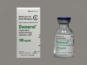 Meperidine (Demerol) Hydromorphone (Dilaudid, Exalgo) Hydrocodone/acetaminophen