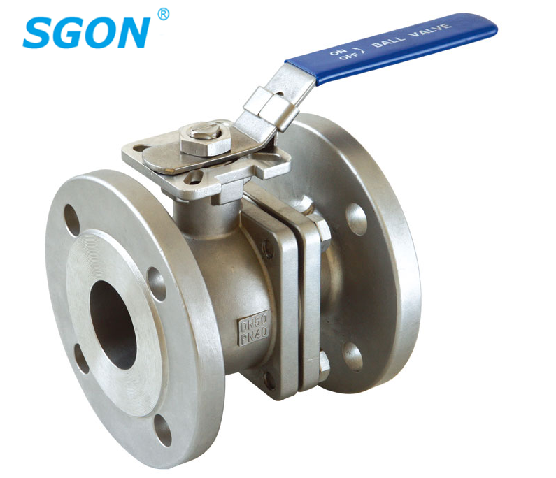 2PC Flanged Ball Valve With High Mounting Pad