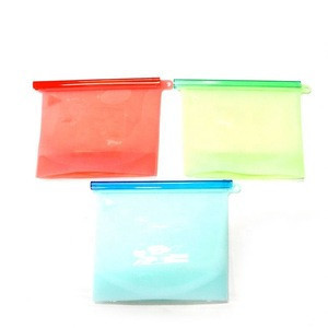 100% food grade reusable silicone food storage bag