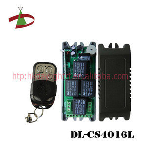 12V / 24V DC small case 4 channel wireless rf remote control switch