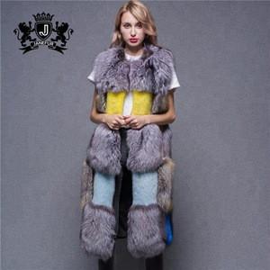2019 Modern Fashion Ladies Gilet Wholesale Cheap Plush Real  Fox Fur Vest