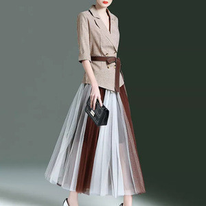 2020 new fashion Two piece suit career dresses ladies office dresses women work dress