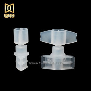 2.5mm  plastic butterfly shape valve cap for Try cosmetic pouch and lotion pouch