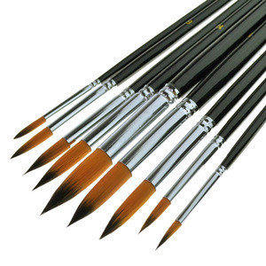 9PCS /Set Portable Korea Synthetic Watercolor Paint  Brush For Professionals