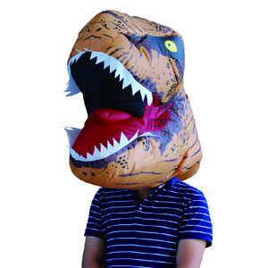 Attractive Inflatable Head of T-Rex Costumes Dinosaur Mask  Mascot Blow-up Waterproof Cosplay Party Decoration  for Adults