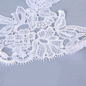 Cheap new design water soluble 100% polyester chemical net lace trim