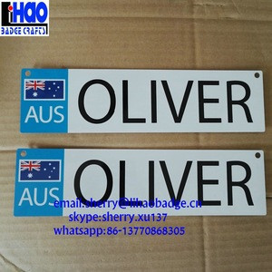 Cheap OEM License Custom Metal Aluminium Plate For Car
