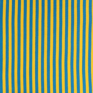 Cheap stock 350gsm polyester cotton knit yarn dyed striped fabric for sale