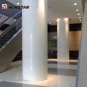Chinese Oriental white Carrara white marble hollow round column cladding