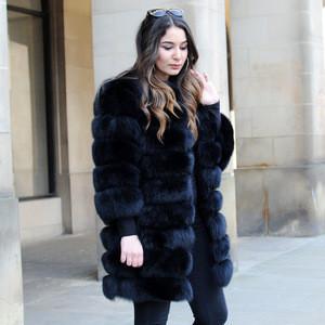 CX-G-A-236 Womens Fashion Real Fox Fur Russian Winter Fur Coat